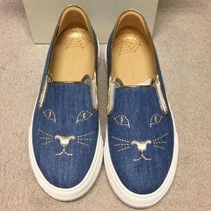Nib Charlotte Olympia Cool Cats Denim